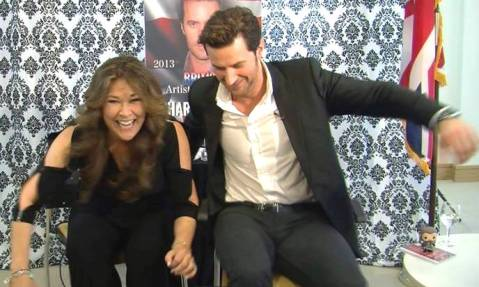 """The Office Chair Races: Richard Armitage vs moi! Who do you think won? (Hint: Cheating was involved ) Hysterical!"" ~ Marlise Boland, The Anglophile Channel"