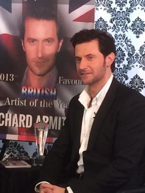 "The man himself: Richard Armitage, voted by fans the ""Favorite British Artist of the Year (2013)"" in a heated competition!"