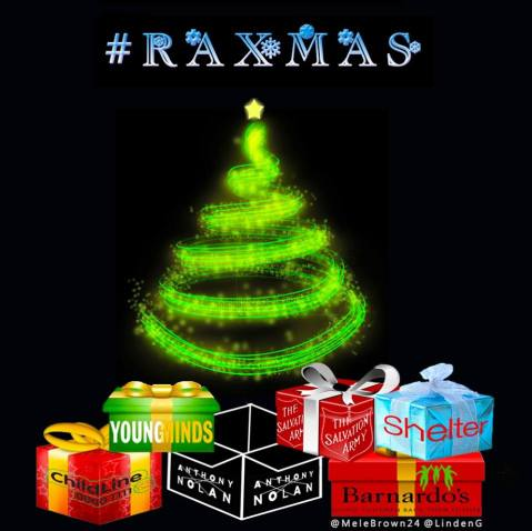 RAXmas Gets Under Way at 9 PM UK Time on Friday, November 28! Support RA's Charities though Just Giving...