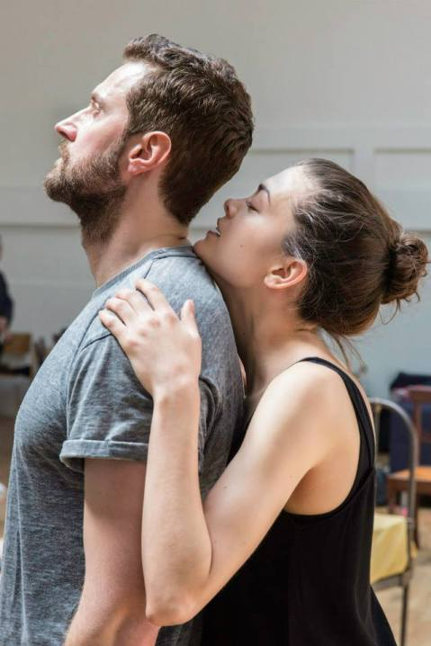 RA and newcomer Samantha Colley rehearse Arthur Miller's The Crucible, directed by the great Yael Farber. Photo by Johan Persson.